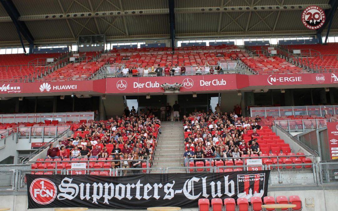 20 Jahre Supporters-Club 1. FC Nürnberg im Max Morlock Stadion am 26.05.2018