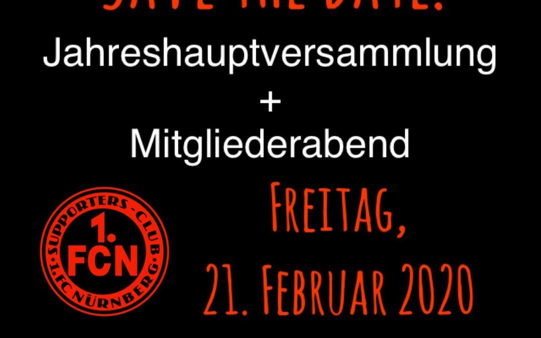 SC-Info: JHV + Mitgliederabend – Freitag, 21.02.2020